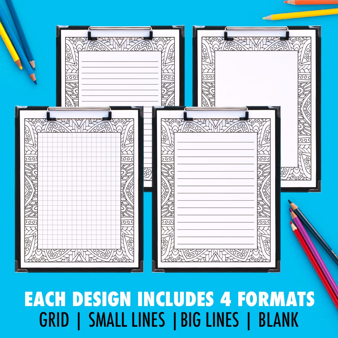 Printable Coloring Journal Pages