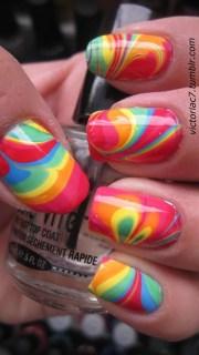 tie dye nails delicious