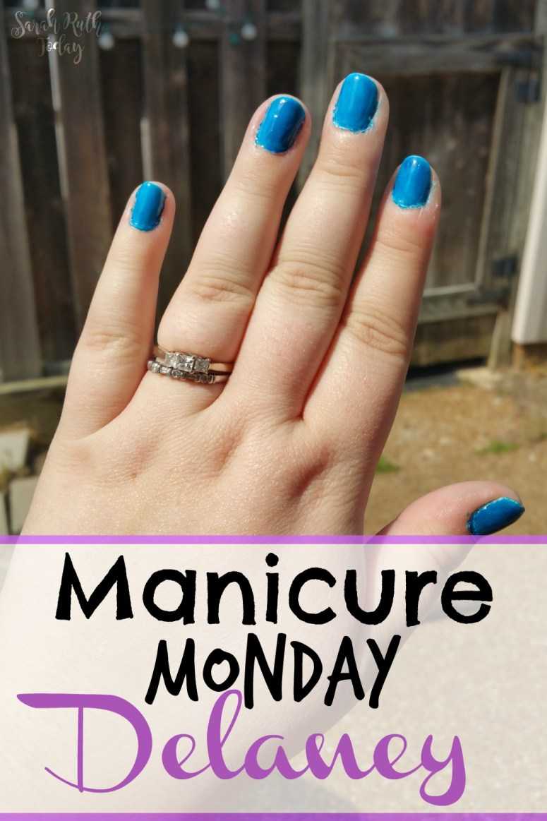 Manicure Monday Delaney (Julep) Look how fun this blue nail polish is!