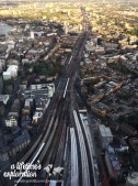 London, Shard, view, trains