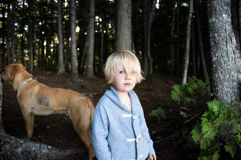 Two year old, camping with a photographer