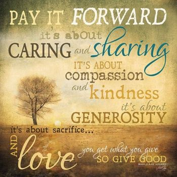 Pay It Forward For The Month Of October - My Gift To You And A Weekly Challenge