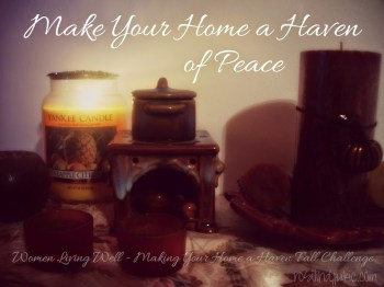 Making Your Home A Haven Fall Challenge Continues : Feedback From All Over -(On Monday Sarah's)