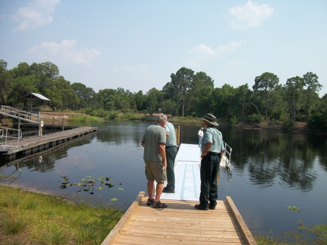 Checking Out The Recently Built, Boardwalk, Gangway and Kayak Launch. Danny's huge project.