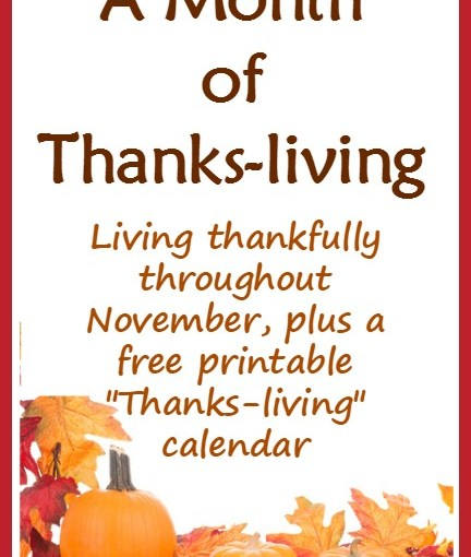 A Month Of Thanks -living. ( My Ramblings )