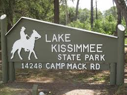 Lake Kissimmee State Park Entrance-  1 mile down Collier Farm Road and the 2 miles West on Camp Mack Road