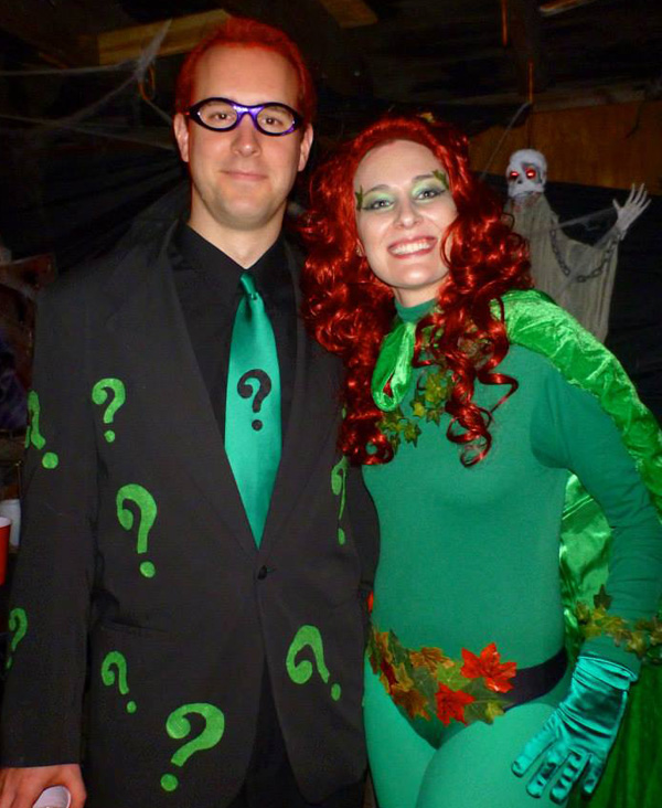 Joe and Sarah in Halloween Costumes