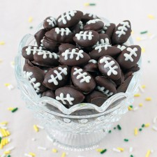 Dark Chocolate Football Almonds from Sarah's Bake Studio