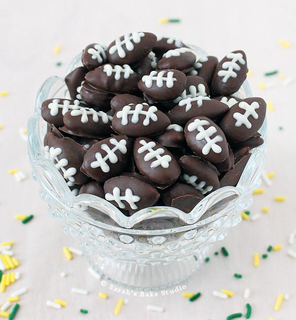 Dark Chocolate Football Almonds