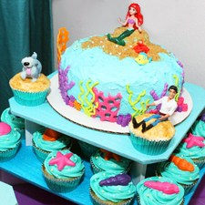 Little Mermaid Cakes & Cupcakes