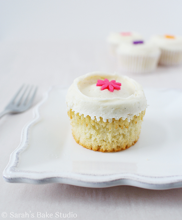 2015 Year in Review: Most Popular Recipes - Vanilla Bean White Velvet Cupcakes