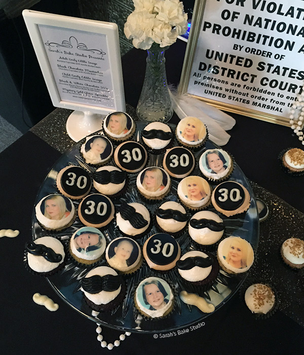 Roaring 20s Dirty 30 Birthday Mini Cupcakes