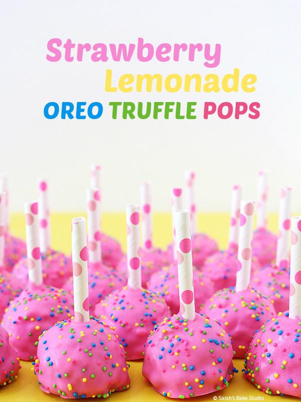Strawberry Lemonade Oreo Truffle Pops