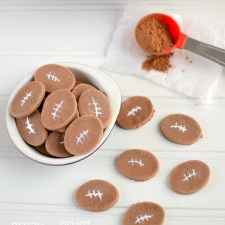 Chocolate Conversation Heart Footballs from Crazy for Crust