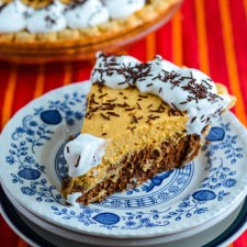 Pumpkin Chiffon French Silk Pie from The Crumby Cupcake