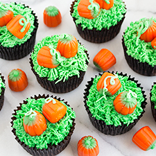 Pumpkin Patch Cupcakes from Sarah's Bake Studio