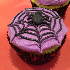 Spider Web Cupcakes from Sarah's Bake Studio