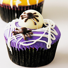 Spider Egg Cupcakes from easybaked