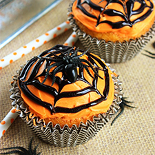 Spiderweb Cupcakes from Mostly Homemade Mom