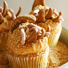 Tremors Cupcakes from Yummy Crumble