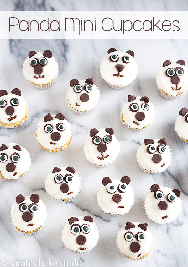 Panda Mini Cupcakes – ridiculously adorable, family-friendly mini cupcakes dressed up as panda bears; fun to make, share, and eat!