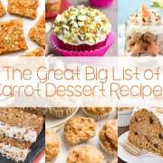 The Great Big List of Carrot Dessert Recipes