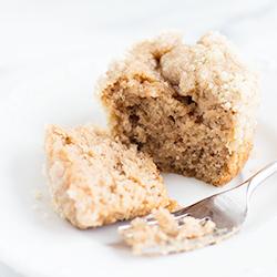 Banana Crumb Snack Cake Cupcakes