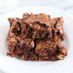 Bite-Size Walnut Brownies