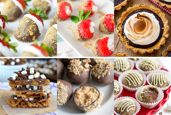 The Great Big List of S'mores Recipes – tickle your taste buds and satisfy your sweet tooth with this recipe roundup of 120+ tasty s'mores recipes from around the web; these recipes are the bees knees!