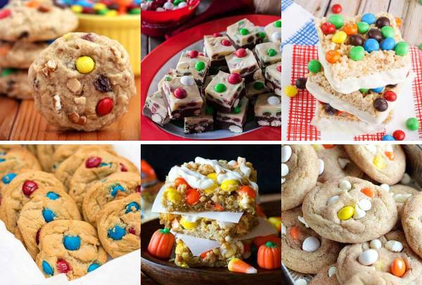 The Great Big List of M&M's Desserts - a sweet collection of 120 vibrant and delightful M&M's dessert recipes.