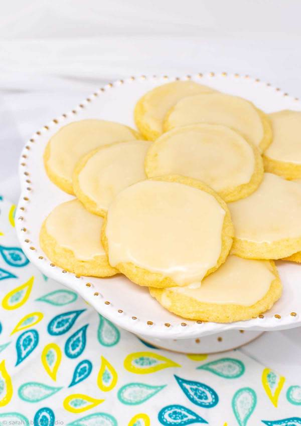 Glazed Limoncello Cookies - soft and chewy refreshingly lemon cookies frosted with lemon glaze perfection.