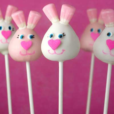 Easter Bunny Cake Pops from Bakerella