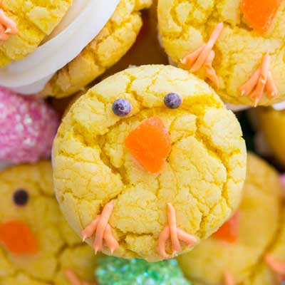 Easter Chick Cookies from The Gold Lining Girl