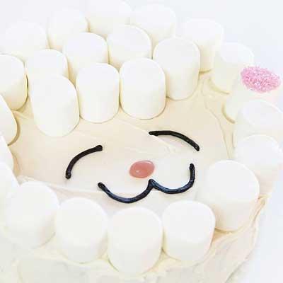 Marshmallow Lamb Cake from I Am Baker