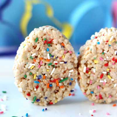 Easter Egg Cake Batter Rice Crispy Treats from Your Cup of Cake