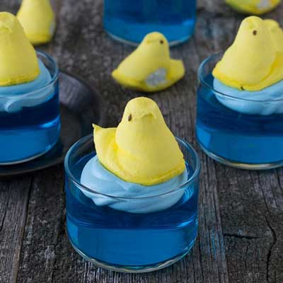 Swimming Peeps Jello Cups from The First Year