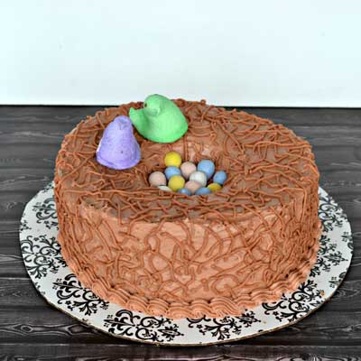 Easter Bird Nest Cake from Hezzi-D's Books and Cooks