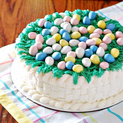 Easter Basket Cake from The Redhead Baker