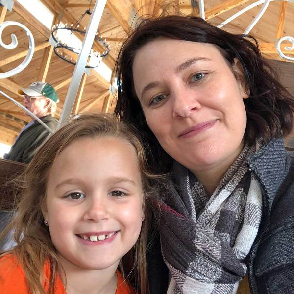 Life Is Sweet October 2019 - Sarah and her niece at Basses' Pumpkin Farm.