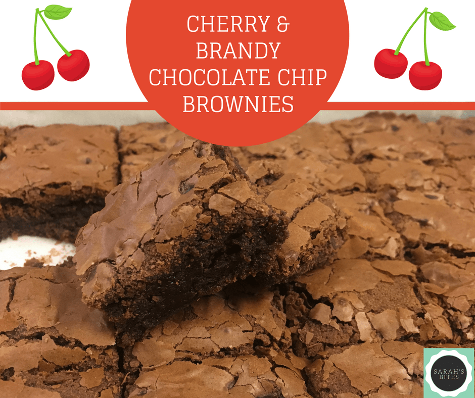Cherry & Brandy Chocolate Chip Brownies