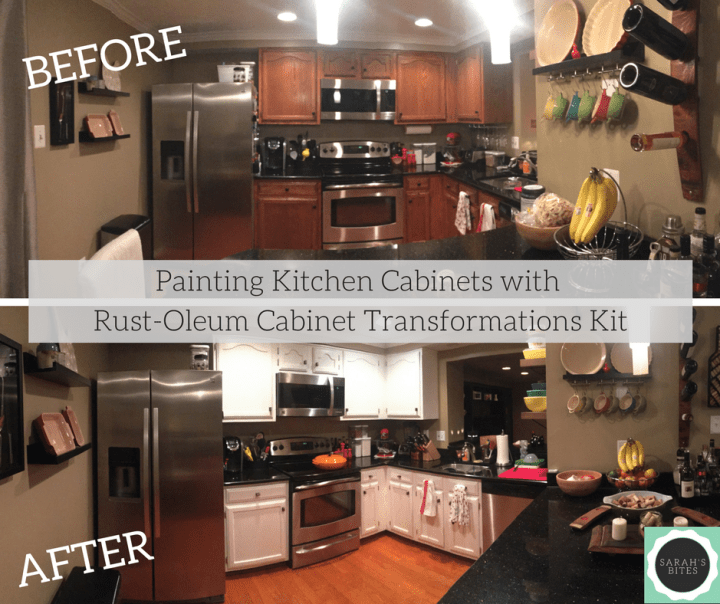 Painting Kitchen Cabinets with Rust-Oleum Cabinet Transformations Kit