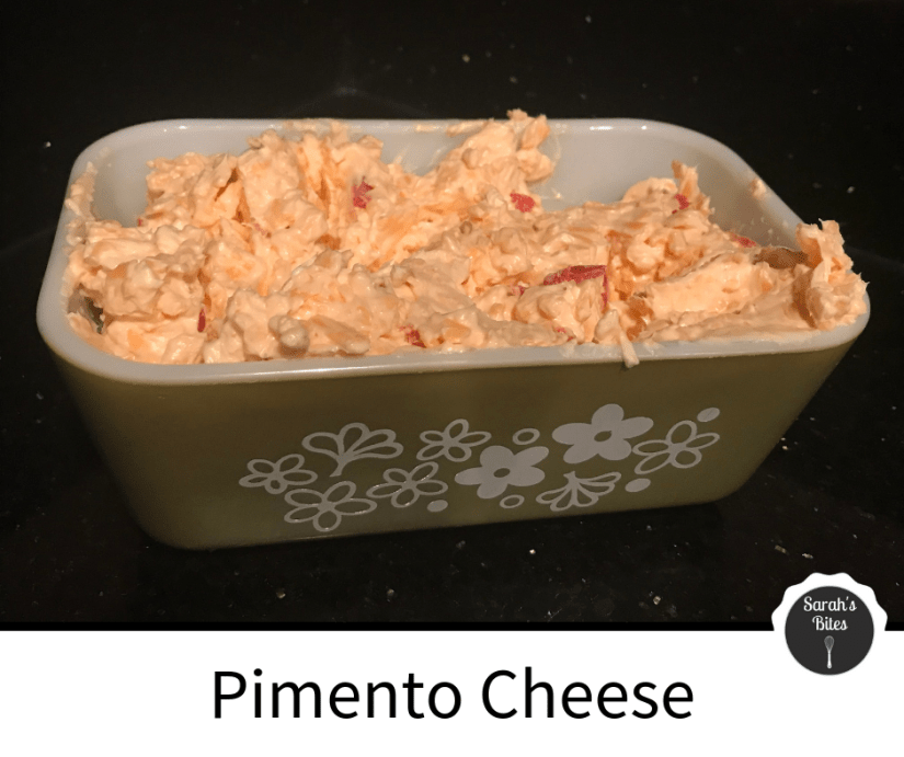 Pimento cheese in a small rectangular dish