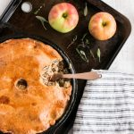 Pork, apple, & ale pie
