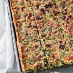 Spinach and ricotta slab pie