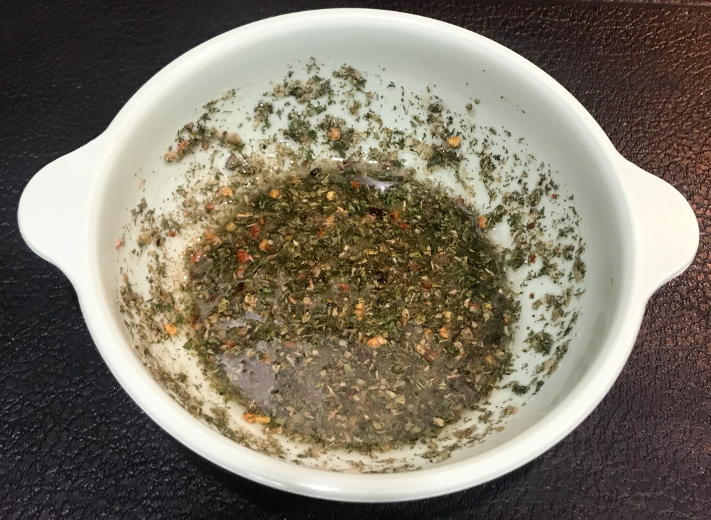 Dressing in a bowl