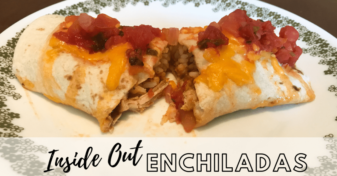 Enchiladas on a plate