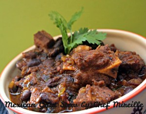 Bowl of goat stew