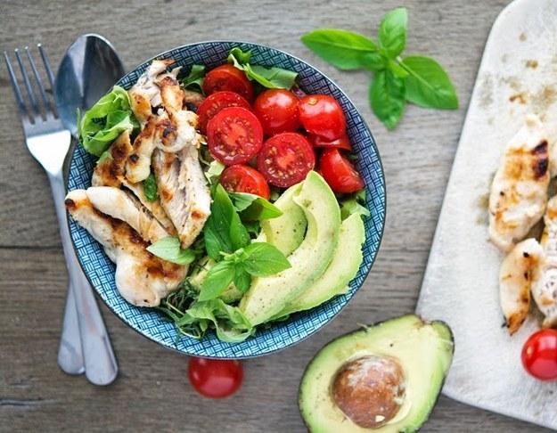 Chicken Bowls with Basil-Lemon Vinaigrette