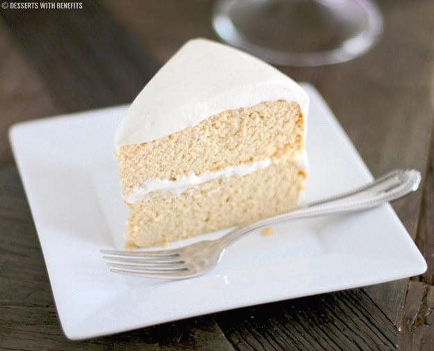 Vanilla Bean Cake With Cream Cheese Frosting