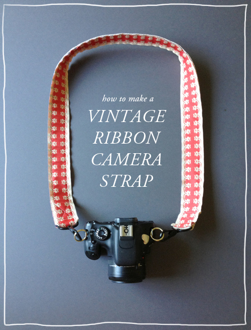 DIY ribbon camera strap holiday gift